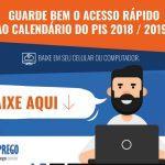 Calendário PIS 2018-2019 – Abono Salarial – Datas de Pagamento